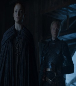 Brienne of Tarth rescues Sansa Stark game of Thrones HBO
