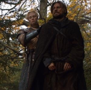 Brienne of Tarth meets jamie Lannister game of Thrones HBO