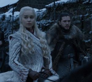 Daenerys Targaryen and Jon Snow Winterfell Game of Thrones HBO