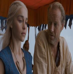 Daenerys Targaryen and jorah Mormont Game of Thrones HBO