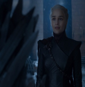 Daenerys Targaryen sees the iron throne in person Game of Thrones