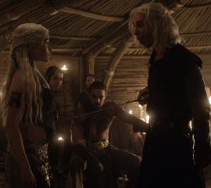 Daenerys Targaryen and Viserys sword Game of Thrones HBO