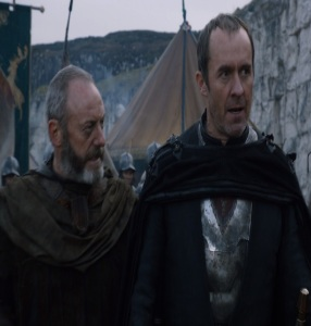 Davos Seaworth advising King stannis baratheon game of Thrones HBO