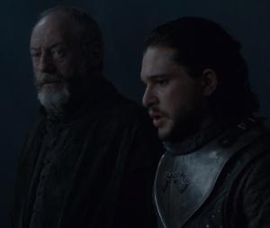 Davos Seaworth and King Jon Snow dragonstone game of Thrones HBO