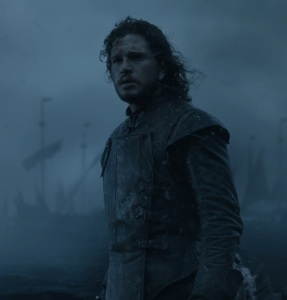 Jon Snow's first battle against white walkers game of Thrones HBO