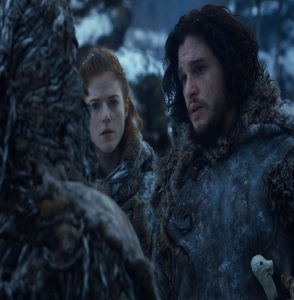 Jon Snow and ygritte game of Thrones HBO