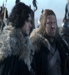 Jon Snow and eddard Stark game of Thrones HBO