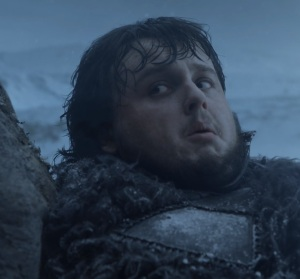 Samwell Tarly sees white walkers game of Thrones HBO
