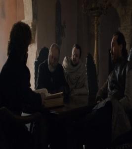 Samwell Tarly serving king bran stark game of Thrones HBO