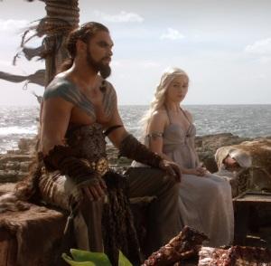 Daenerys Targaryen wedding to khal Drogo Game of Thrones HBO