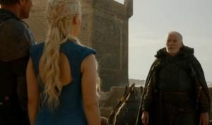 Game of Thrones season 3 barristan selmy and Daenerys Targaryen