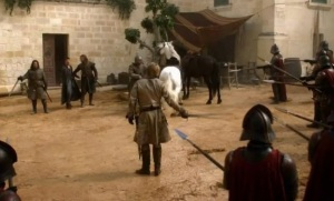 Game of Thrones season 1 wolf vs the lion