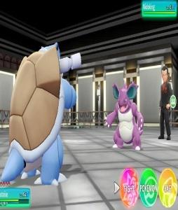 Giovanni uses nidoking Pokemon Let's Go Pikachu/Eevee Nintendo Switch