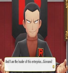Giovanni Pokemon Let's Go Pikachu/Eevee Nintendo Switch