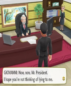 Giovanni tries to get master ball Pokemon Let's Go Pikachu/Eevee Nintendo Switch