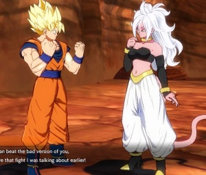 Goku and good Android 21 dragon Ball FighterZ Nintendo Switch Xbox One PS4