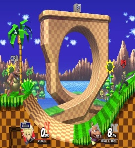 Green Hill Zone Stage super Smash Bros ultimate Nintendo Switch sonic the Hedgehog series