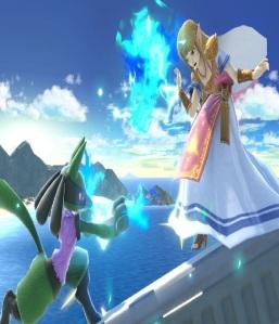 Lucario vs princess Zelda super Smash Bros ultimate Nintendo Switch Pokémon