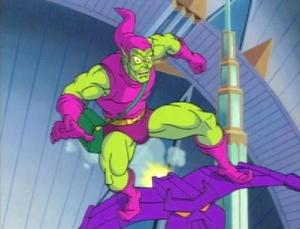 Green Goblin on glider Spider-Man: The Animated Series