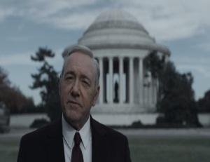 House of Cards Frank Underwood Jefferson memorial Washington dc Netflix