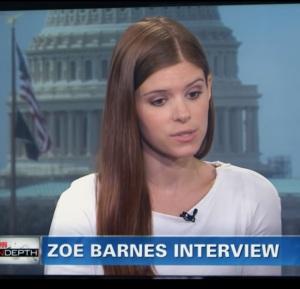 Zoe Barnes cnn interview house of Cards Netflix Kate Mara