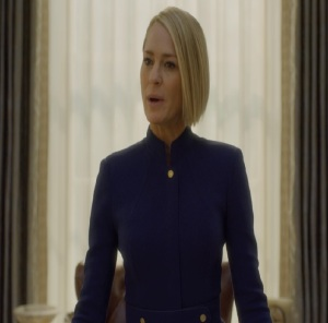 House of Cards President Claire Underwood blue dress