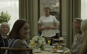 House of Cards Claire Underwood women's dinner Netflix