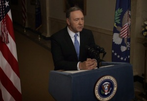 House of Cards President frank Underwood addressing the nation Netflix