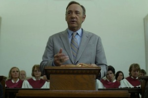 House of cards Frank Underwood speaking in a black church Netflix