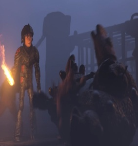 Hiccup with flaming sword How to Train Your Dragon: The Hidden World