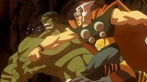 Hulk punched by Thor Hulk Vs Thor