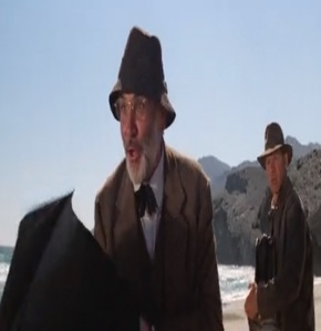 Henry Jones takes out German plane with birds Indiana Jones and the Last Crusade