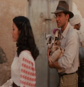 Indiana Jones arguing with Marion Ravenwood Indiana Jones raiders of the Lost ark
