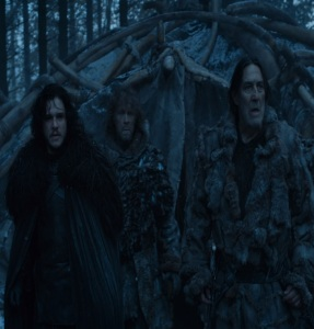 Jon Snow and mance rayder game of Thrones HBO
