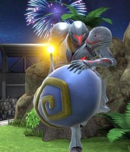Dark samus holding Killer Eye super Smash Bros ultimate Nintendo Switch kid Icarus