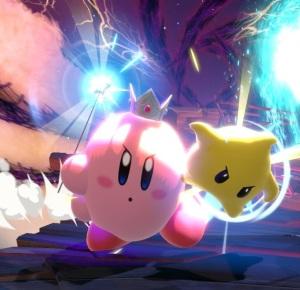 Kirby as Rosalina and Luma super Smash Bros ultimate Nintendo Switch