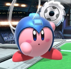Kirby as Mega Man super Smash Bros ultimate Nintendo Switch Capcom