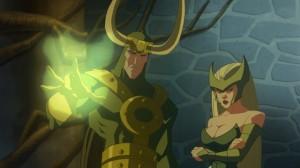 Loki and enchantress Hulk Vs Thor