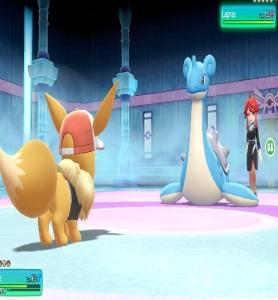 Lorelei using Lapras Pokemon Let's Go Pikachu/Eevee Nintendo Switch