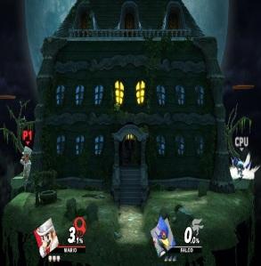 Luigi's Mansion Stage super Smash Bros ultimate Nintendo Switch