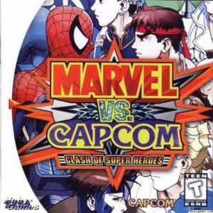 Marvel vs Capcom: Clash of Super Heroes sega Dreamcast boxart