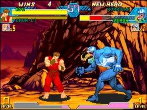 Ryu vs Venom Marvel vs Capcom: Clash of Super Heroes