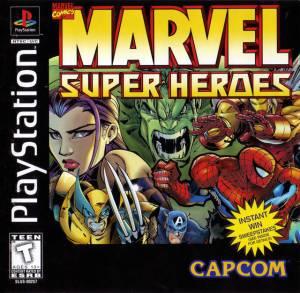 Marvel Super Heroes PS1 boxart