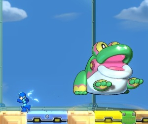 Giant frog robot Mega Man 11 Nintendo Switch Xbox One PS4 Capcom