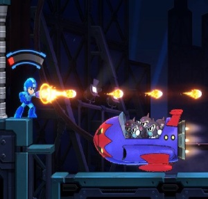 Flying ship of robot monkeys Mega Man 11 Nintendo Switch Xbox One PS4 Capcom