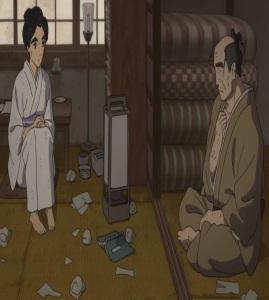 O-ei meets her father for art Miss Hokusai 2015 film