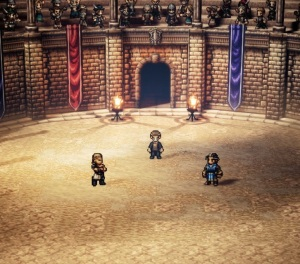 Olberic battle arena Octopath Traveler Nintendo Switch SquareEnix