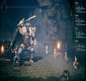 Viking boss battle Octopath Traveler Nintendo Switch SquareEnix