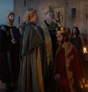Robert de Bruce becomes king of Scotland Chris Pine outlaw King Netflix