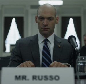 Peter Russo in Congress House of Cards Netflix